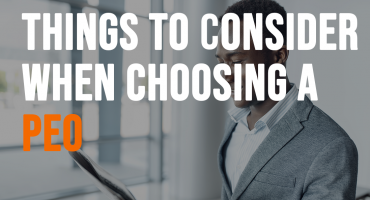 things to consider when choosing a peo