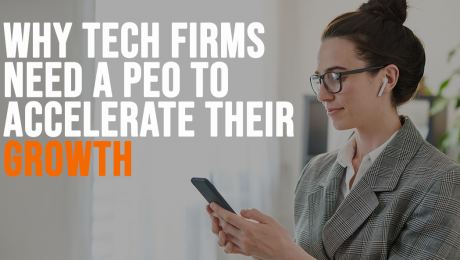 woman researching peo for tech firms
