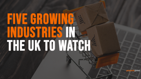 what industries are growing uk graphic