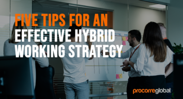 tips for hybrid working strategy blog banner